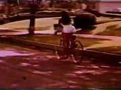 Vintage: Girl on a Bike