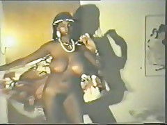 Retro Slim Black Lady With Big Tits