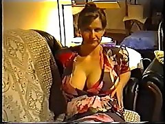 Wife flashing big tits in a bra