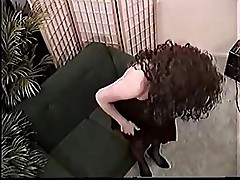 Enthusiastic brunette late 80s early 90s 2 - who is she?