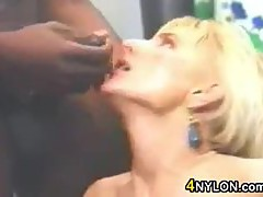 Blonde Gets Some Black In Her