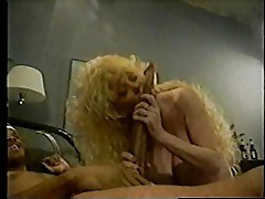 Busty Older Blonde & a black guy with a long dong!